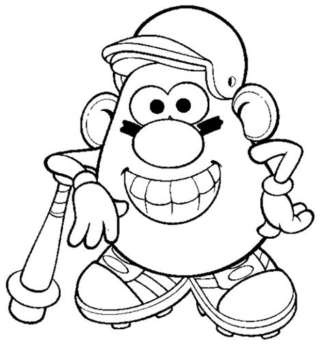 fun coloring pages mr potato head coloring pages
