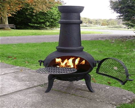 chiminea cooking grate large chiminea with grill patio garden heater bbq steel or