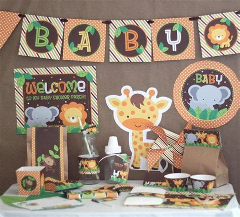 baby boy theme it s a wild time with a boys safari baby shower baby
