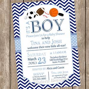 all sports baby shower invitation allstar baby shower