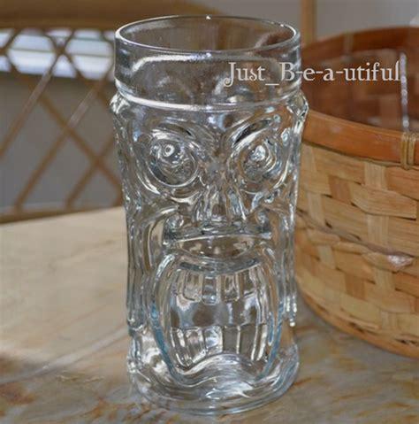 tiki barware new clear tiki glass quot joe s crab shack quot glasses florida collectible glassware ebay