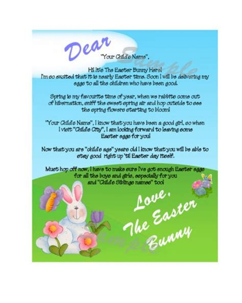 letter to easter bunny template free printable personalized easter bunny letters