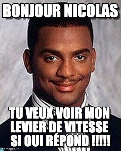 Carlton Banks Meme - bonjour nicolas carlton banks meme on memegen