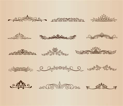 Designous Vintage Ornaments Element Vector Graphic Set Free Vector