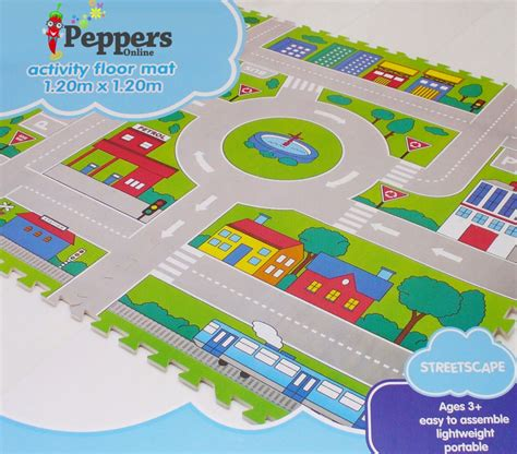 Large Foam Play Mat by New Large Streetscape Car Activity Play Foam Floor