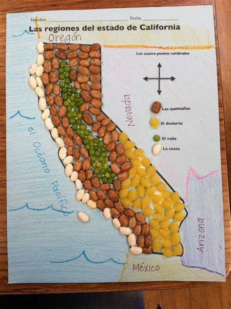 california regions map key regions of california with pinto bean mountains green