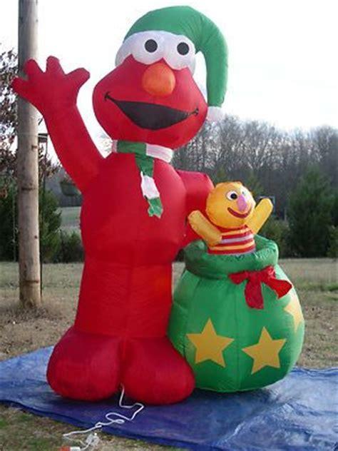 rare 8 lighted christmas sesame street elmo inflatable