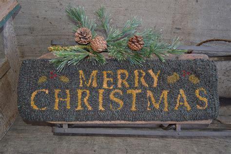 plumrun creek merry christmas rug
