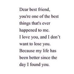 Thank You Letter Best Friend Tumblr friendship on pinterest dear best friend friends and love you