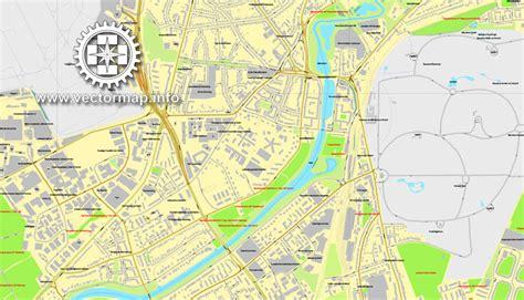 printable map hamburg pdf map hamburg germany printable vector street map city plan