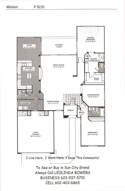 mission floor plans find sun city grand mission floor plans leolinda bowers