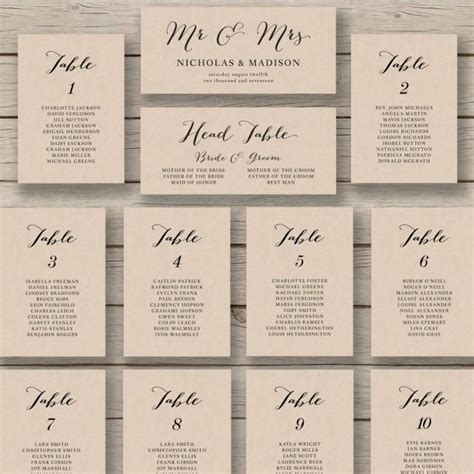 search results for free seating chart template wedding