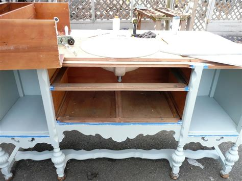 convert pedestal sink to vanity repurpose a dresser into a bathroom vanity how tos diy