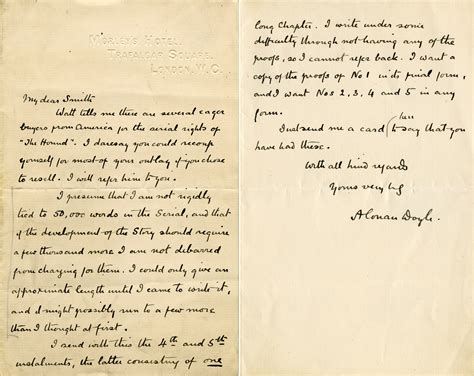 olden day letter template file letter from arthur conan doyle to herbert greenhough smith jpg wikimedia commons