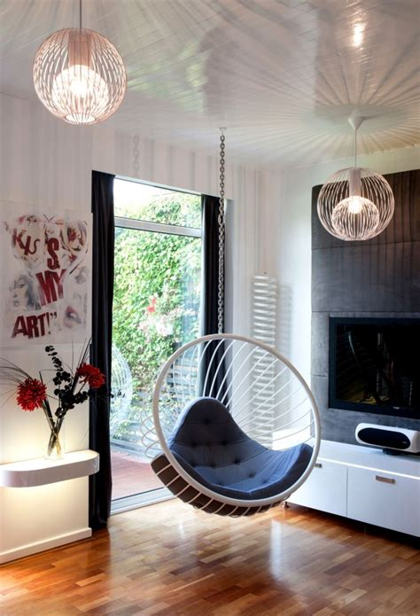 hanging chair in living room wire chairs by rousseau rousseau design