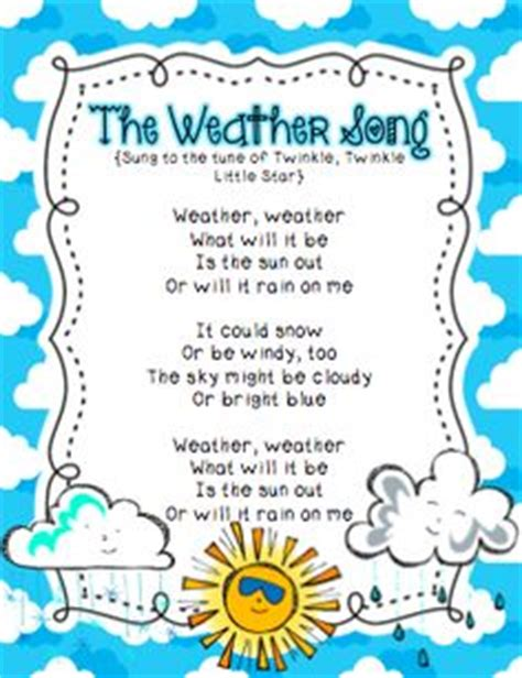 weather pattern lyrics 1000 images about kindergarten patterns of change