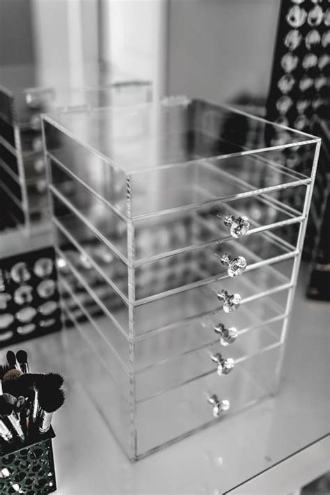 Acrylic Make Up 2 Drawer Akrilik acrylic makeup organizers cosmetic storage and storage
