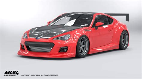 subaru brz kit ml24 2013 2016 subaru brz version 2 wide kit