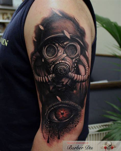 gas mask tattoo sleeve gas mask for