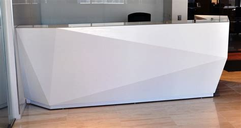 modern white reception desk kirigami reception desk custom reception desk arnold