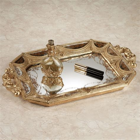 mirror tray for dresser uk nora mirrored vanity tray with handles
