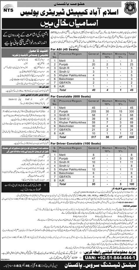 paper pattern nts 2016 ictp islamabad police jobs 2015 nts written physical test