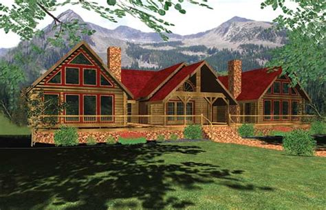 pinebluff log home plan by honest abe log homes inc