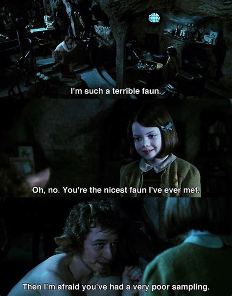 james mcavoy lion witch james mcavoy as mr tumnus with georgie henley as lucy in