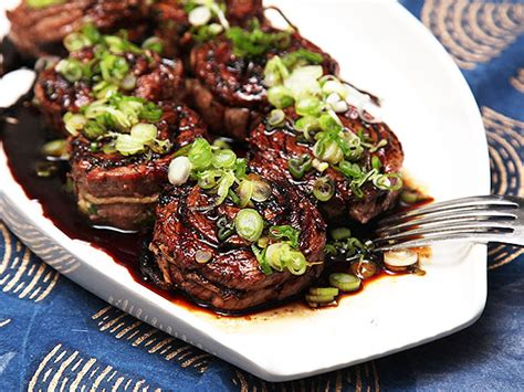 Japanese Style Kitchen Knives grilled stuffed flank steak with scallions ginger and