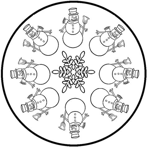 snowman mandala coloring pages 92 best images about mandala winter on