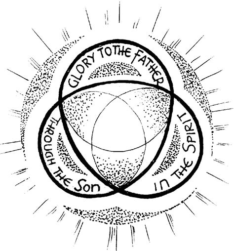 holy trinity symbol coloring page coloring pages