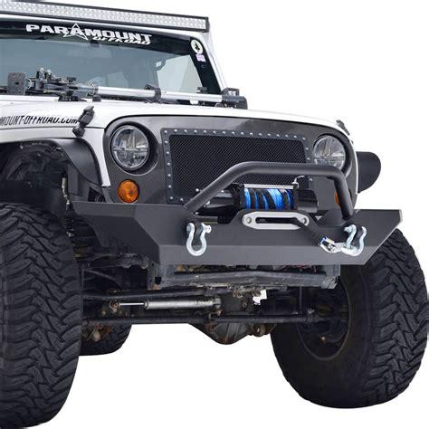 rock crawler bumpers jeep 07 16 jeep wrangler jk heavy duty rock crawler front bumper
