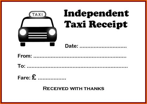 yellow cab taxi receipt template 4 taxi bill format doc simple bill
