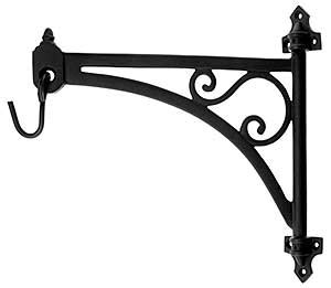 Cast Iron Swing Arm Plant Hanger In Natural Black House