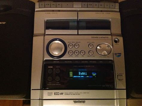 Cd Player With Cassette Deck by Aiwa Cx Naj10 3 Cd Player Dual Cassette Deck Radio Stereo