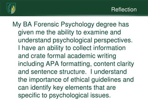 eportfolio for forensic psychology