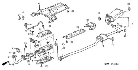 2000 honda civic exhaust diagram honda store 2000 accord exhaust pipe parts