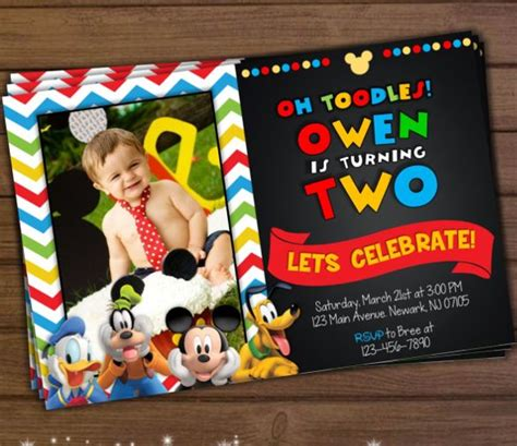 mickey mouse invitation templates   psd vector