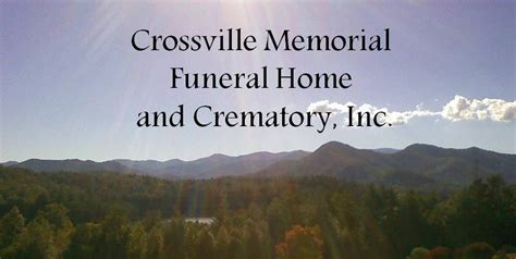 obituaries crossville memorial funeral home and