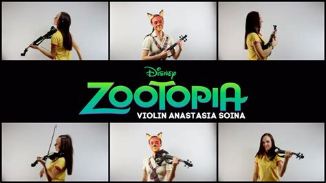 theme song zootopia videopolis violin cover of shakira s quot try everything