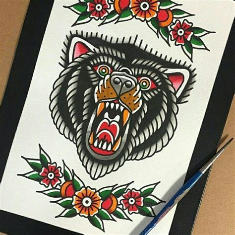 american traditional bear tattoo best 25 traditional ideas on