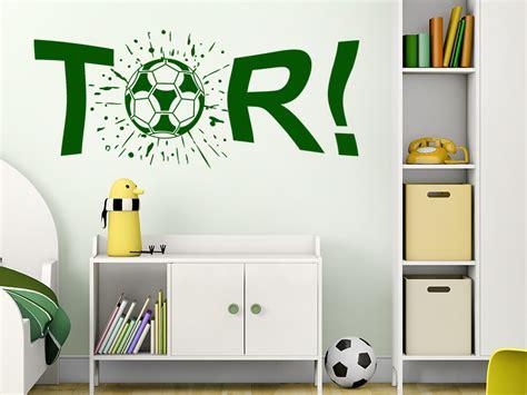 Wandtattoo Kinderzimmer Junge Fussball by Wandtattoo Tor Fu 223 Schuss Kicker Wandtattoo De