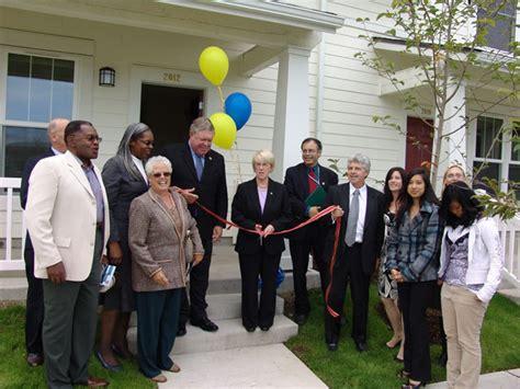 tacoma housing authority salishan ribbon cutting tacoma housing authority