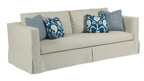 Modern Slipcover Sofa With Kick Pleat Skirt By Kincaid Modern Sofa Slipcover