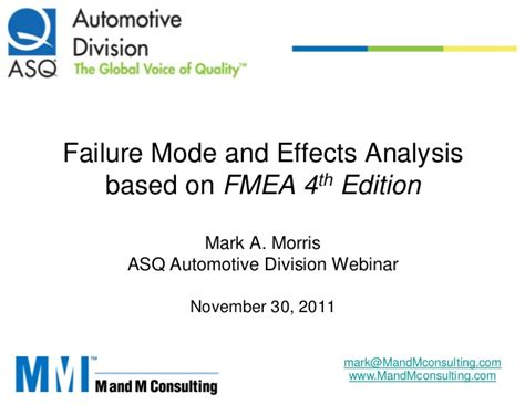 fmea potential failure mode and effects analysis ppt fmea presentation