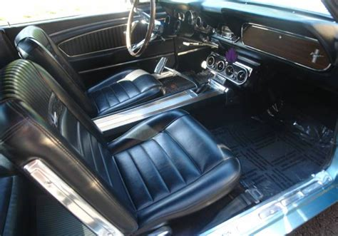 66 mustang pony interior tahoe turquoise blue 1966 ford mustang gt fastback