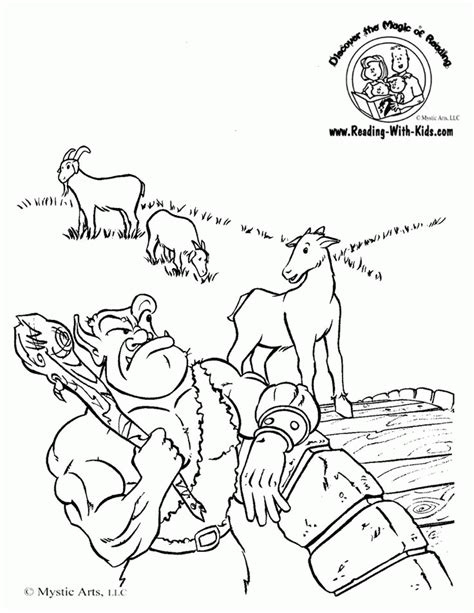 billy goats coloring pages troll from three billy coloring page coloring home