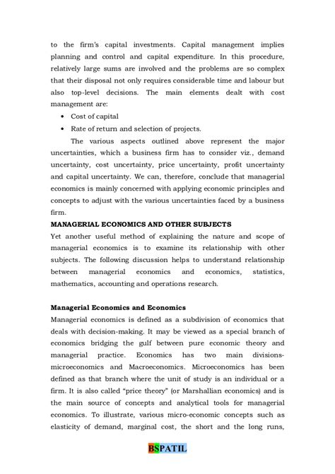 Managerial Economics Mba Projects by Managerial Economics Book Bec Doms Bagalkot Mba