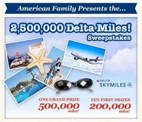 American Express Travel Sweepstakes - 2 500 000 million point skymiles giveaway american family sweepstakes ren 233 s