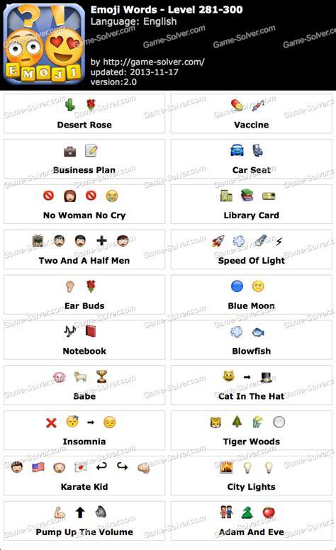 emoji word emoji words level 281 300 game solver